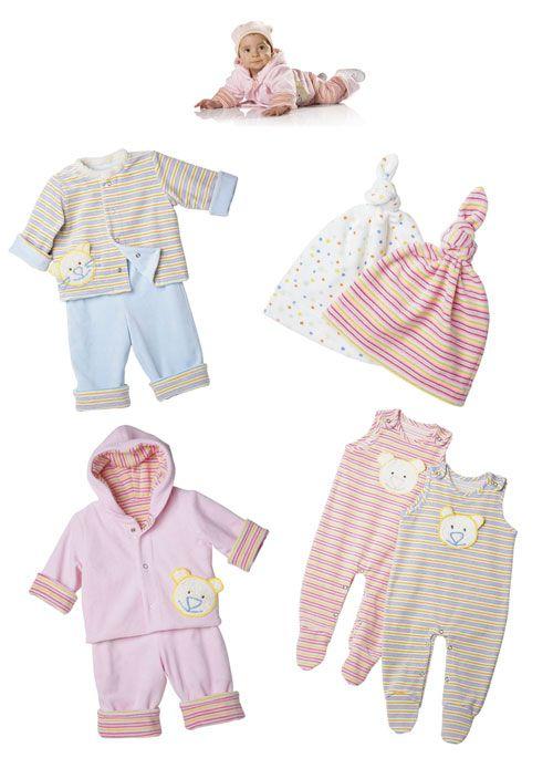 9636 BURDA Schnittmuster Baby Kombination