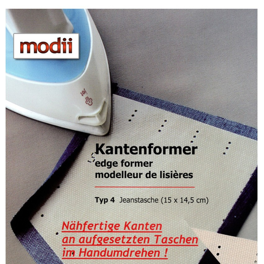 modii Kantenformer - Jeanstasche 15x14,5cm