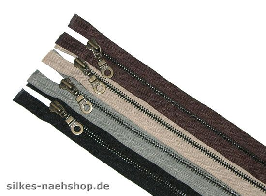 Metall-Reißverschluß teilbar 65cm