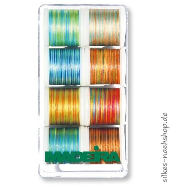 MADEIRA Stickgarn-Set MULTICOLOR 8er-Box