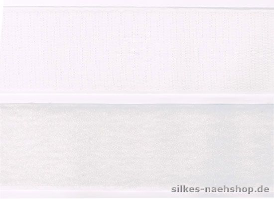 1m Klettband 38mm Haken & Flausch weiß