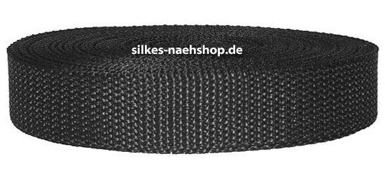 Gurtband 25mm schwarz