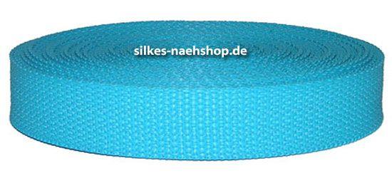 Gurtband 40mm türkis