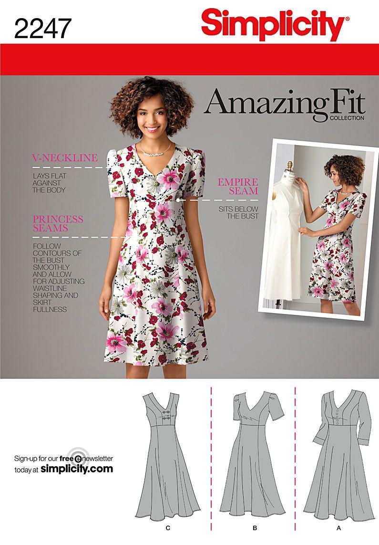 Simplicity Schnitt Amazing Fit Kleid 2247