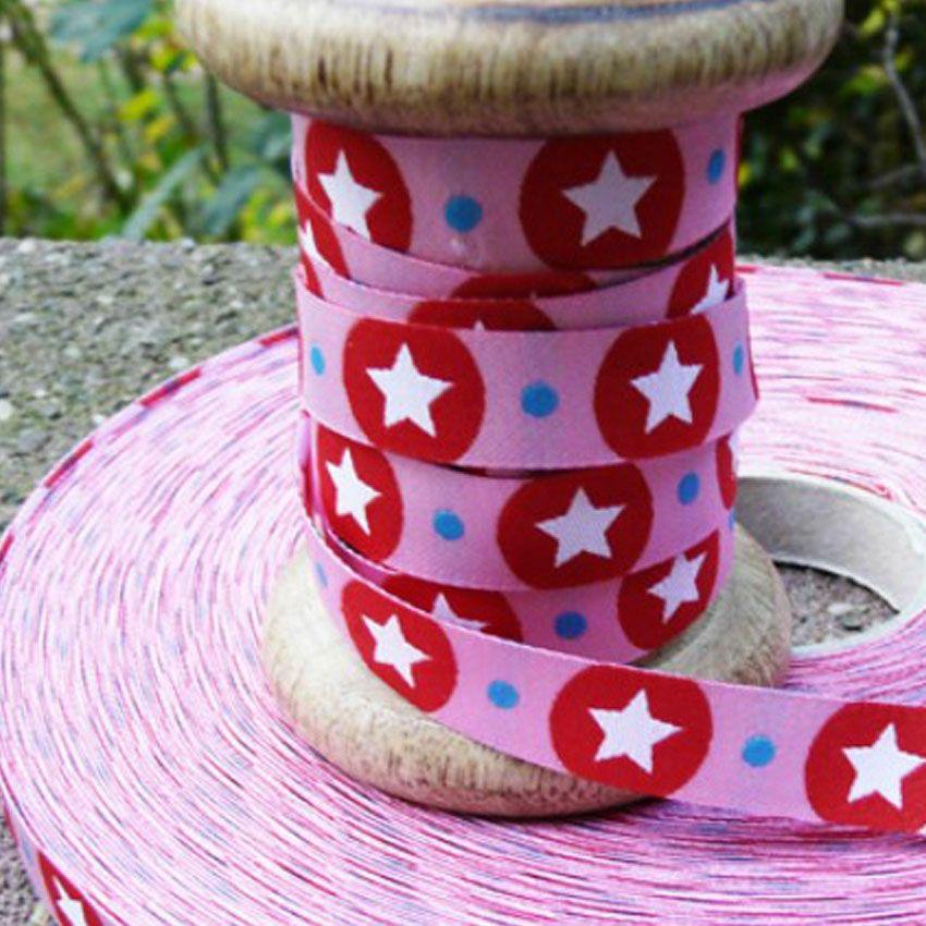 farbenmix Webband STARdotzz rosa