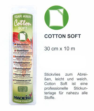 10m Madeira Stickvlies Cotton soft weiß