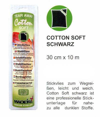 10m MADEIRA Stickvlies Cotton Soft schwarz