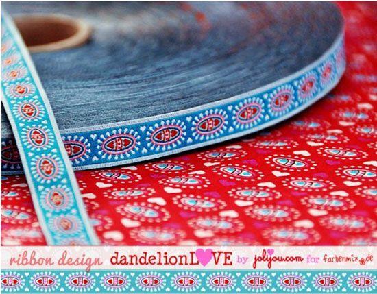 1m farbenmix Webband BlueDandelionLove