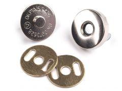 Magnetverschluss 18mm silber 5er-Pack