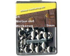 24er-Pack Nieten silber incl. Werkzeug