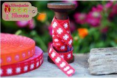 1m farbenmix Webband Woodpecker cherry