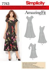7743 Simplicity Schnittmuster Amazing Fit Kleid