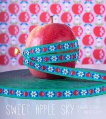 1m farbenmix Webband jolijou Sweet Apple sky