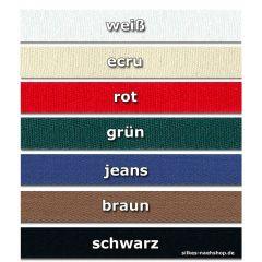 1m Baumwollband 15mm kräftig und weich