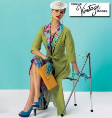V8875 VOGUE Vintage Schnittmuster Kleid Mantel 50er Jahre