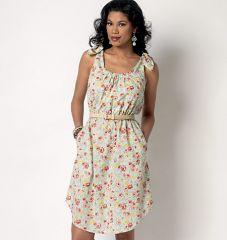 B6205 Butterick Schnittmuster Kleid EASY!