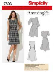7803 Simplicity Schnittmuster Amazing Fit Kleid