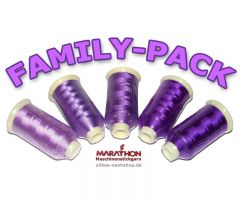 MARATHON Stickgarn Set Rayon FAMILY-PACK lila