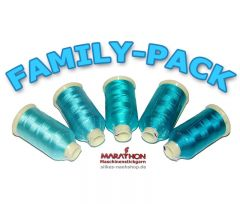 MARATHON Stickgarn Set Rayon FAMILY-PACK türkis