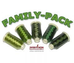 MARATHON Stickgarn Set Rayon FAMILY-PACK khaki