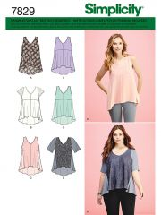 7829 Simplicity Schnittmuster Shirts Tops