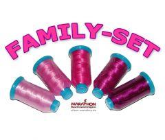 MARATHON Maschinenstickgarn Poly FAMILY-SET pink