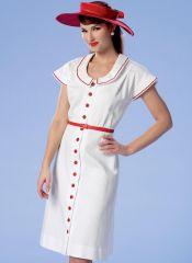 B6363 Butterick Schnittmuster historisches Kleid mit Hut