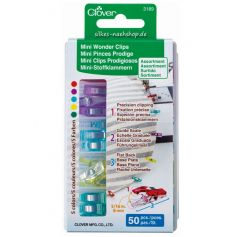 CLOVER Mini Wonderclips Stoffklammern 50er-Pack