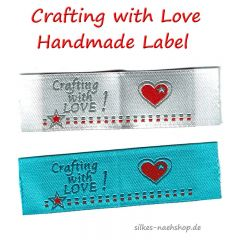 Handmade Label CRAFTING with LOVE 2er-Pack