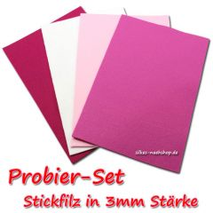 Stickfilz Probier-Set 3mm pink