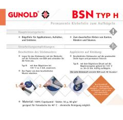 Gunold BSN Klebefolie zum Aufbügeln 3m Rolle