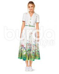 6520 Burda Schnittmuster Hemdblusenkleid im Vintage-Stil