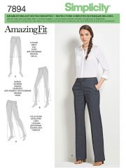 7894 Simplicity Schnittmuster Amazing Fit Hose