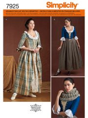 7925 Simplicity Schnittmuster historisches Kleid