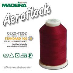 Madeira Aeroflock Bauschgarn dunkelrot 1000m