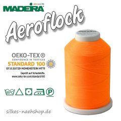 Madeira Aeroflock Bauschgarn neonorange 1000m