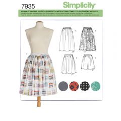 7935 Simplicity Schnittmuster Rock Röcke