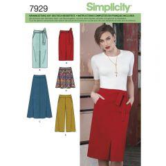 7929 Simplicity Schnittmuster Rock Hose