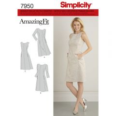 7950 Simplicity Schnittmuster Amazing Fit Kleid