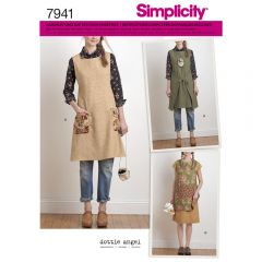 7941 Simplicity Schnittmuster Überkleid Schürze