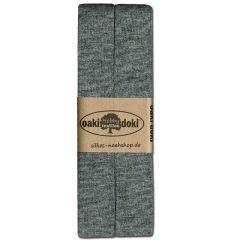 3m Jersey-Schrägband 20mm grau-meliert