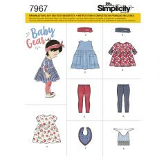 7967 Simplicity Schnittmuster Baby Kombination