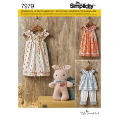 7979 Simplicity Schnittmuster Kleinkind Kombination