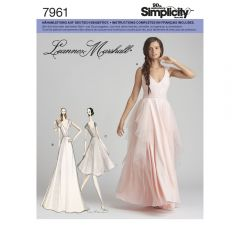 7961 Simplicity Schnittmuster Brautkleid Abendkleid