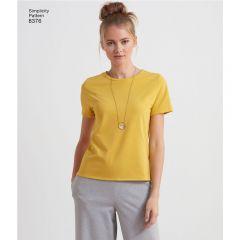 7984 Simplicity Schnittmuster Basic-Shirt XXS-XXL