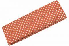 3m Schrägband mit Pünktchen orange