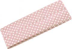 3m Schrägband mit Pünktchen flieder