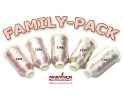 MARATHON Stickgarn Set Rayon FAMILY-PACK haut