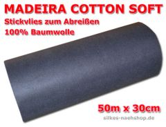 50m MADEIRA STICKVLIES COTTON SOFT 50g/qm schwarz