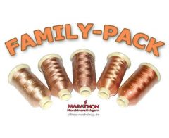 MARATHON Stickgarn Set Rayon FAMILY-PACK teint